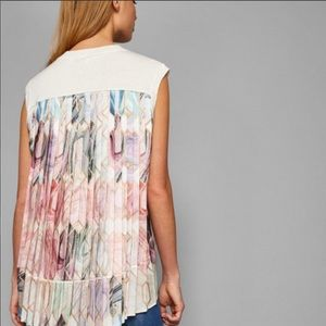 NWT Ted Baker silk pleated Boho tunic top sz 2